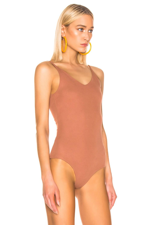 Image 3 of Acne Studios Ellis Bodysuit in Rust Orange