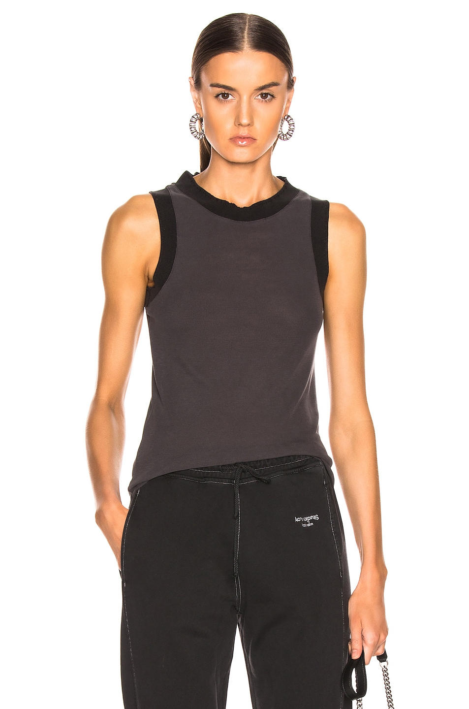 Image 1 of Acne Studios Erika Tank Top in Washed Black