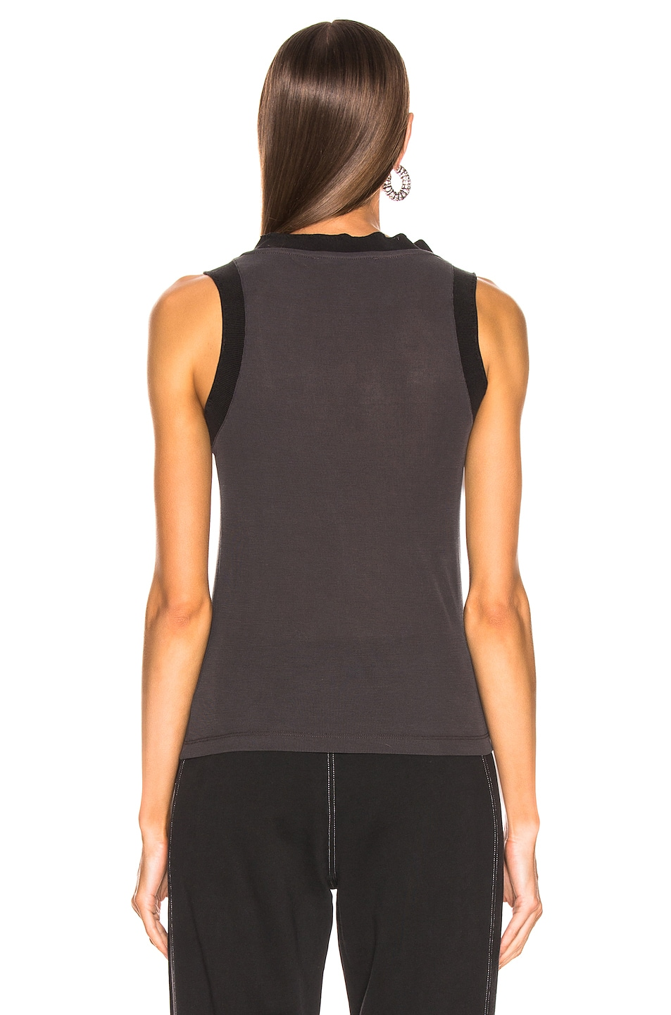 Image 3 of Acne Studios Erika Tank Top in Washed Black
