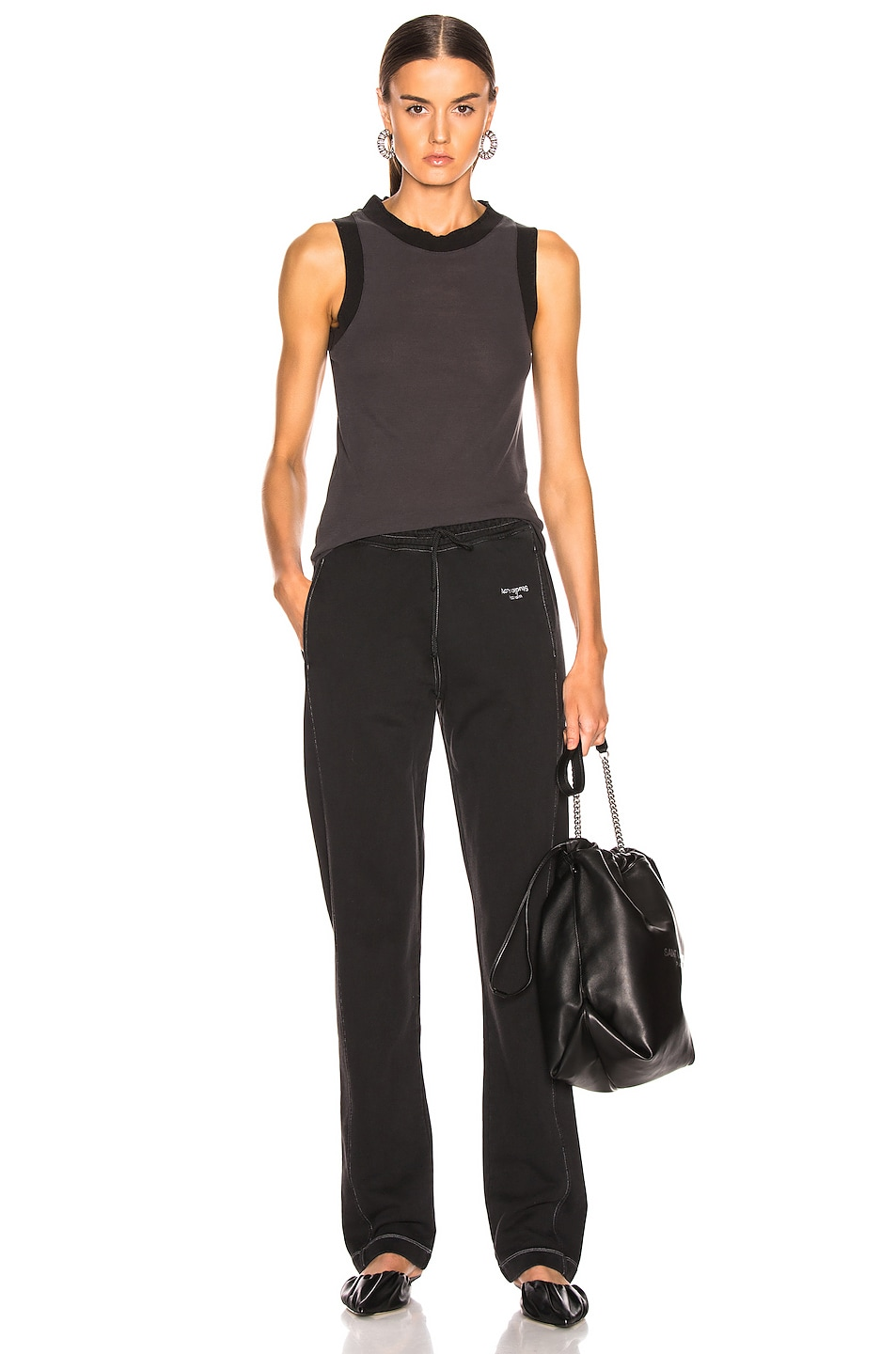 Image 4 of Acne Studios Erika Tank Top in Washed Black