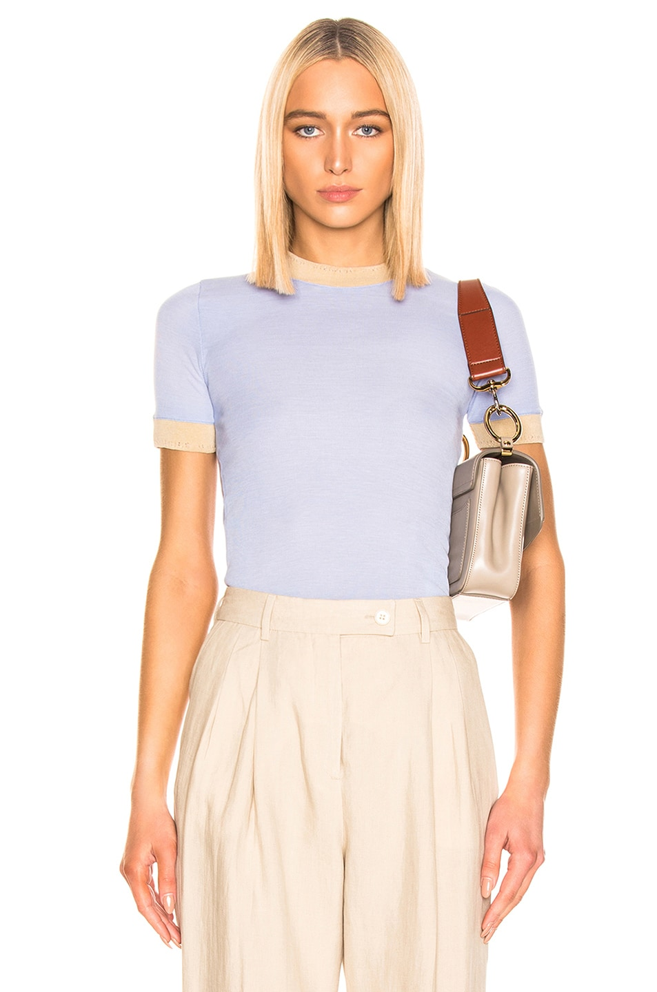 Image 1 of Acne Studios Eva T Shirt in Pale Blue