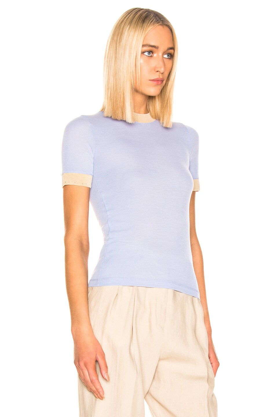 Image 2 of Acne Studios Eva T Shirt in Pale Blue