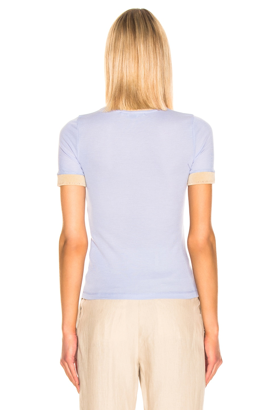 Image 3 of Acne Studios Eva T Shirt in Pale Blue