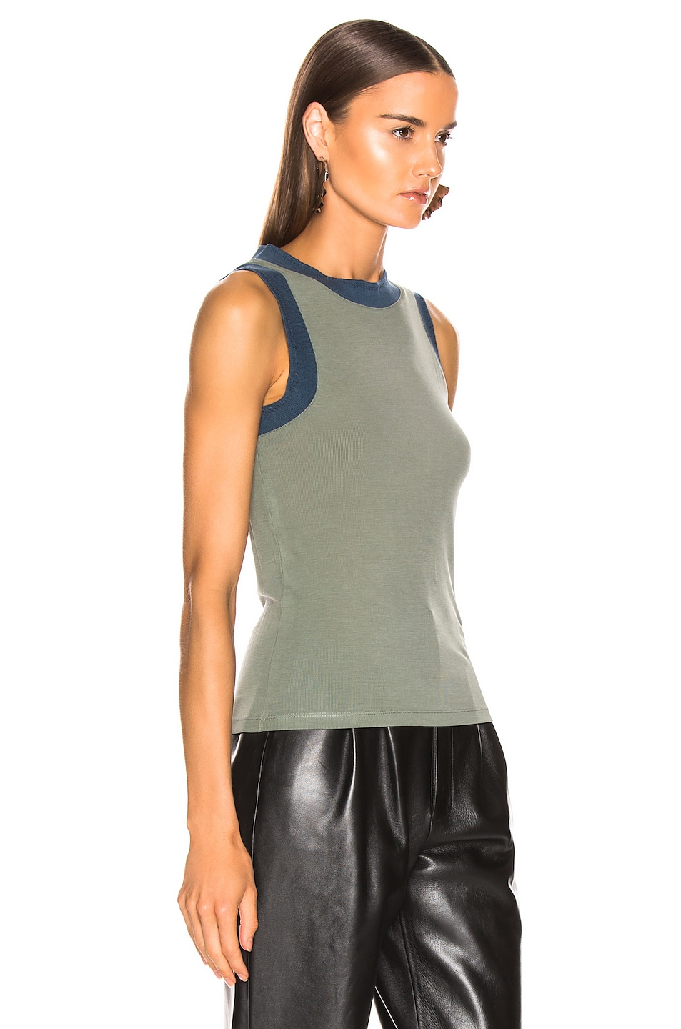 Image 2 of Acne Studios Erica Tank Top in Dusty Green
