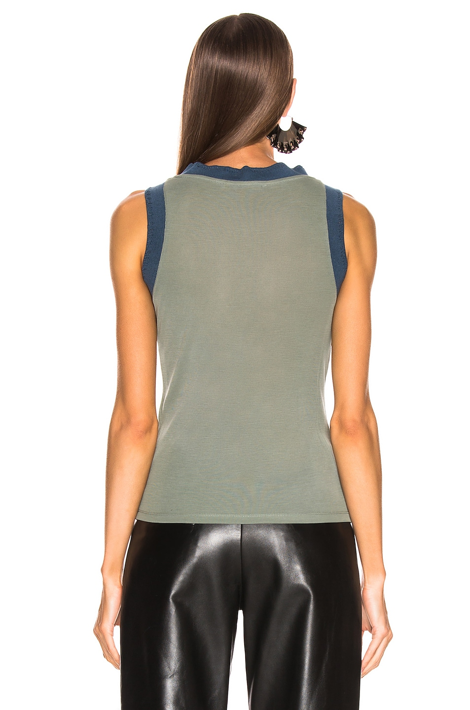 Image 3 of Acne Studios Erica Tank Top in Dusty Green