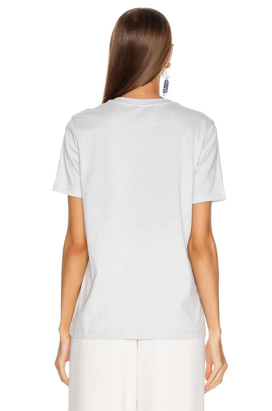Image 3 of Acne Studios Ellison Face T Shirt in Ice Blue