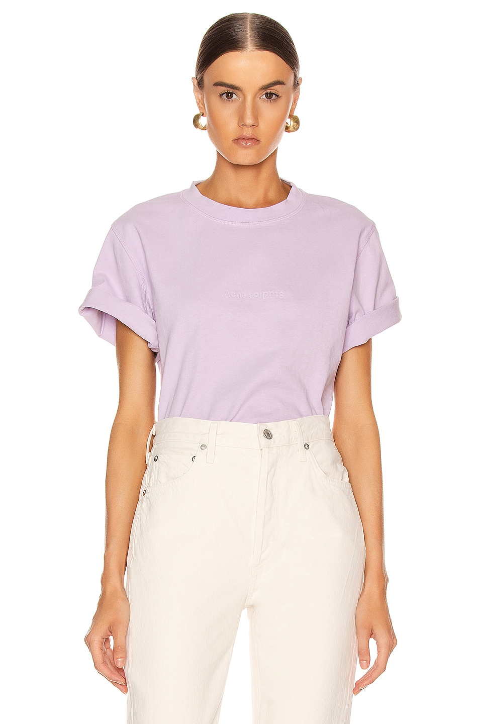 Image 1 of Acne Studios Ecylea T Shirt in Lavender Purple