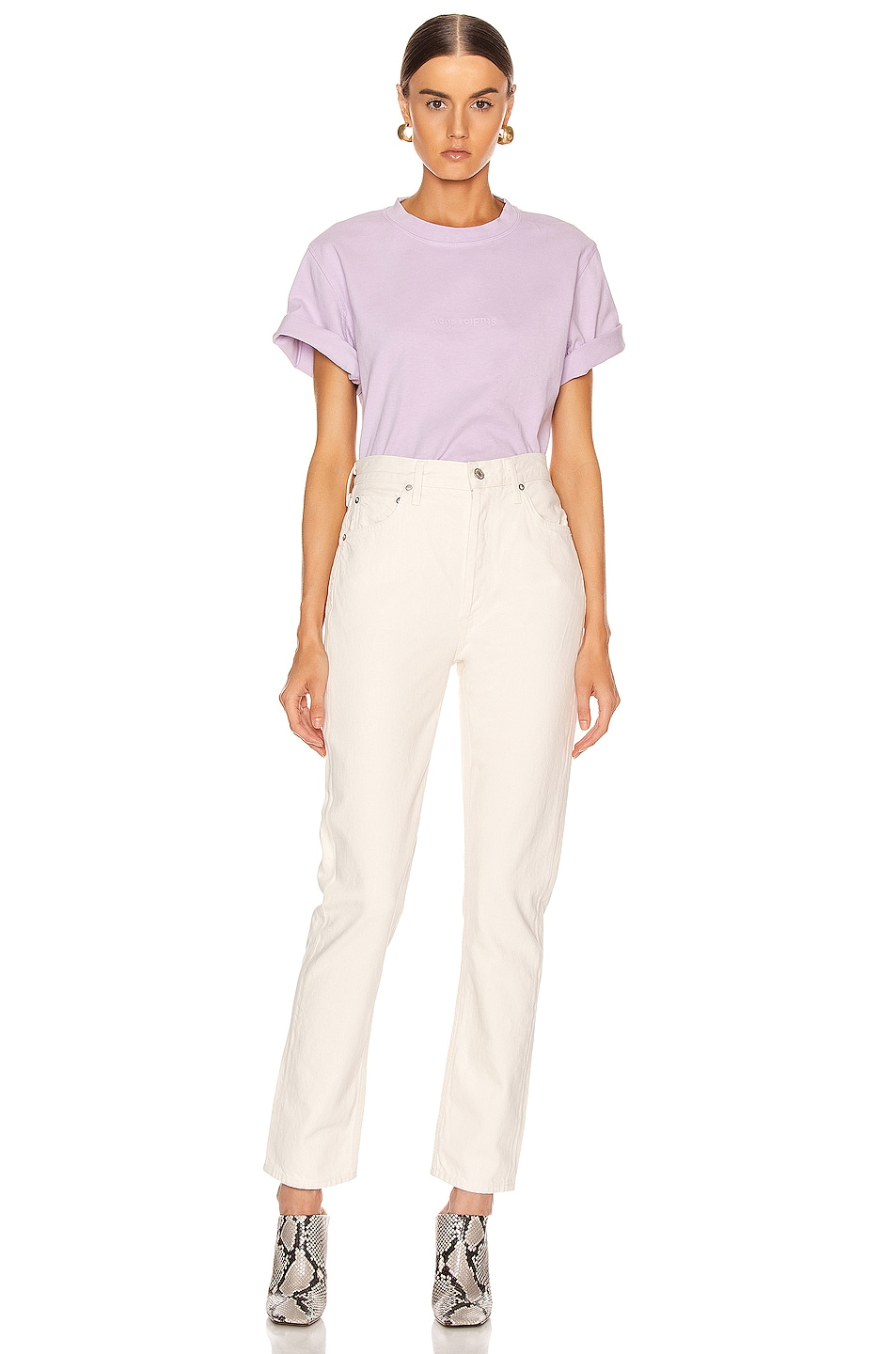 Image 4 of Acne Studios Ecylea T Shirt in Lavender Purple