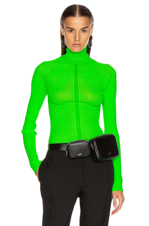 Image 1 of Acne Studios Komina Knit Top in Flou Green