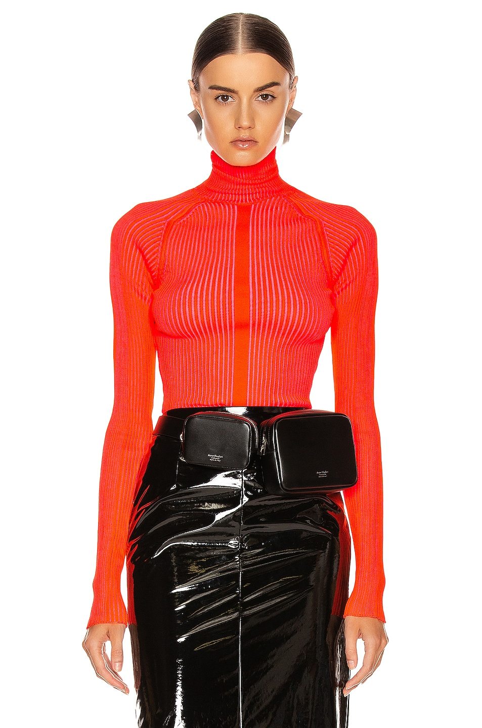 Image 1 of Acne Studios Komina Knit Top in Flou Red