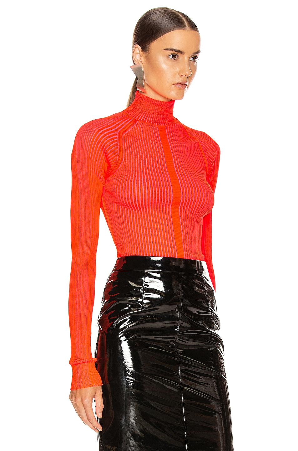 Image 2 of Acne Studios Komina Knit Top in Flou Red