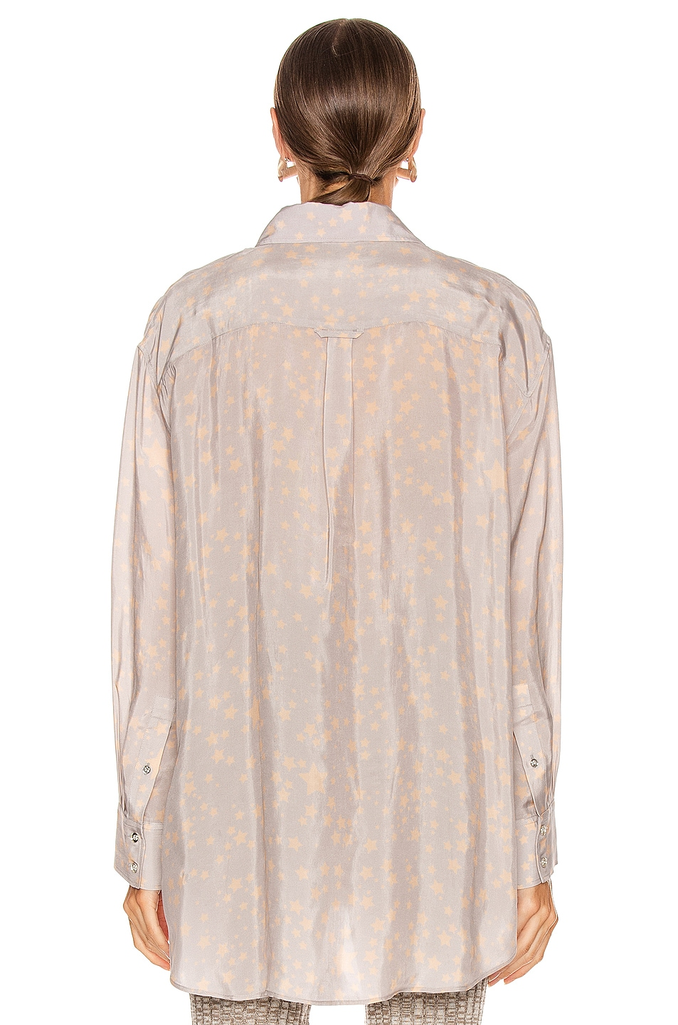 Image 4 of Acne Studios Stella Print Shirt in Lilac Purple