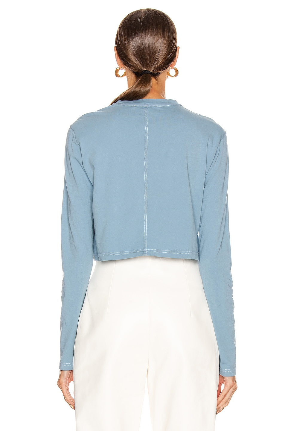 Image 3 of Acne Studios Elvana T Shirt in Dusty Blue