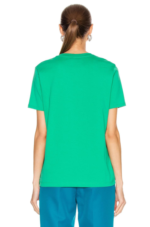 Image 3 of Acne Studios Ellison Face Tee in Emerald Green