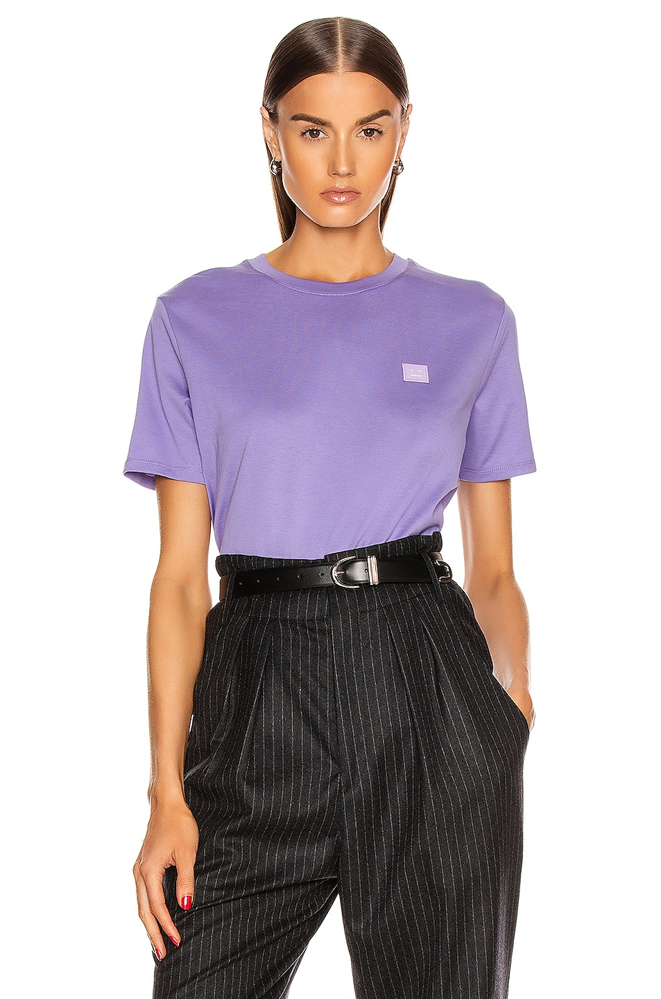 Image 1 of Acne Studios Face Tee in Lavender Purple
