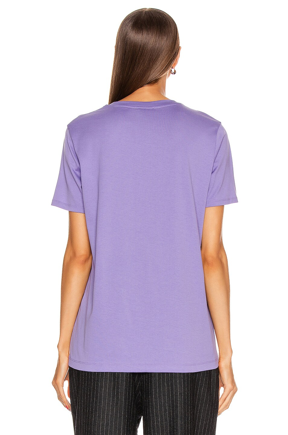 Image 3 of Acne Studios Face Tee in Lavender Purple