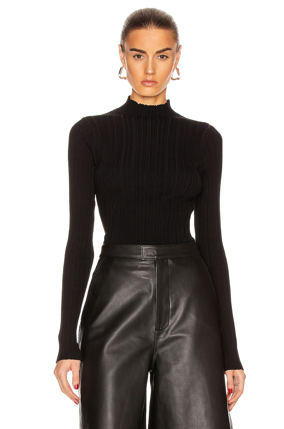 Image 1 of Acne Studios Knit Top in Black