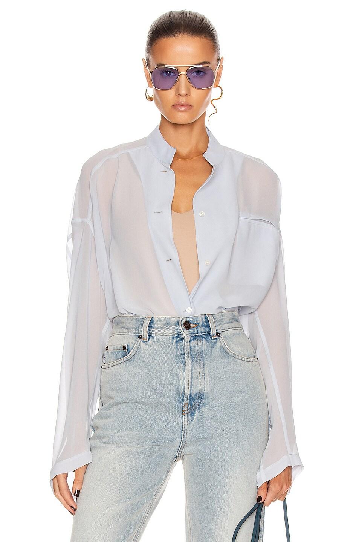 Image 1 of Acne Studios Multi Pocket Shirt in Ice Blue