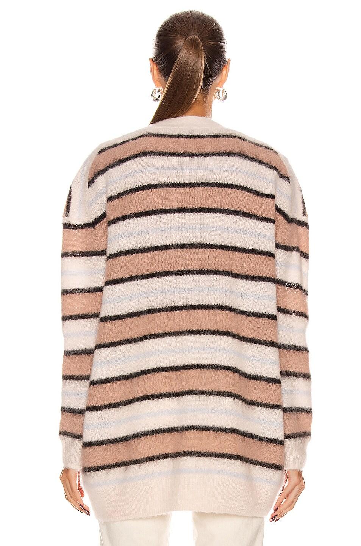 Image 4 of Acne Studios Alpaca Striped Cardigan in Old Pink & Multi