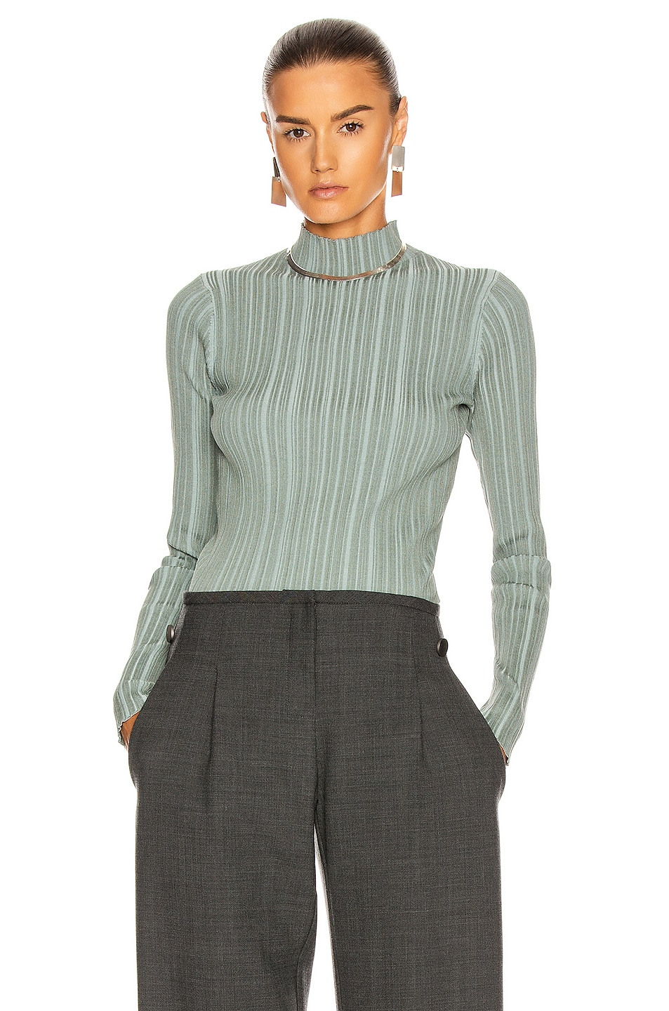 Image 1 of Acne Studios Katina Top in Dusty Green