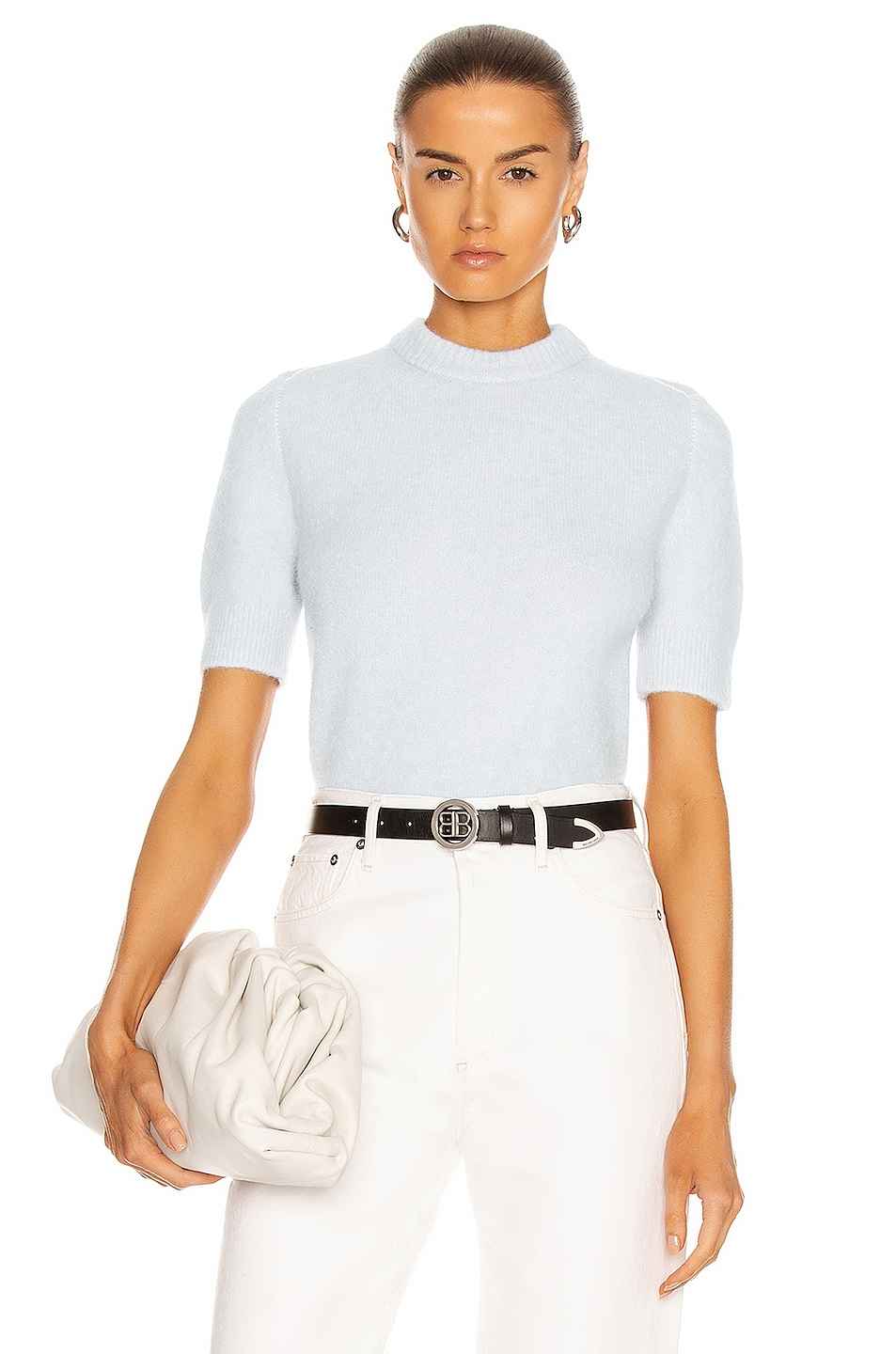 Image 1 of Acne Studios Knit Top in Ice Blue
