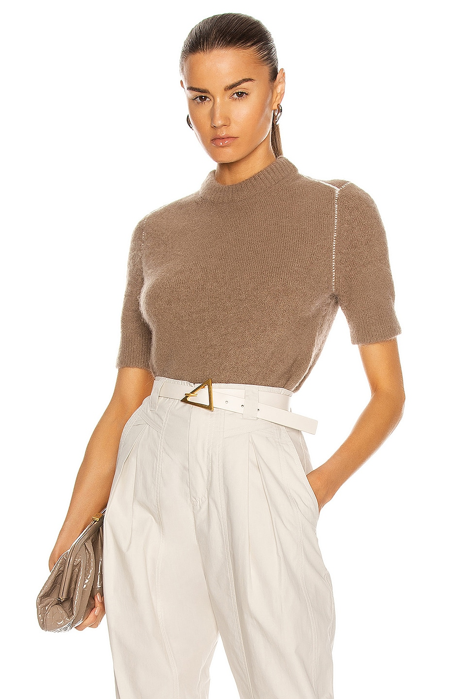 Image 1 of Acne Studios Knit Top in Light Brown
