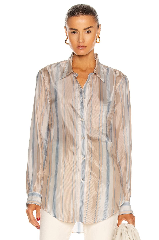 Image 1 of Acne Studios Striped Shirt in Blue & Orange