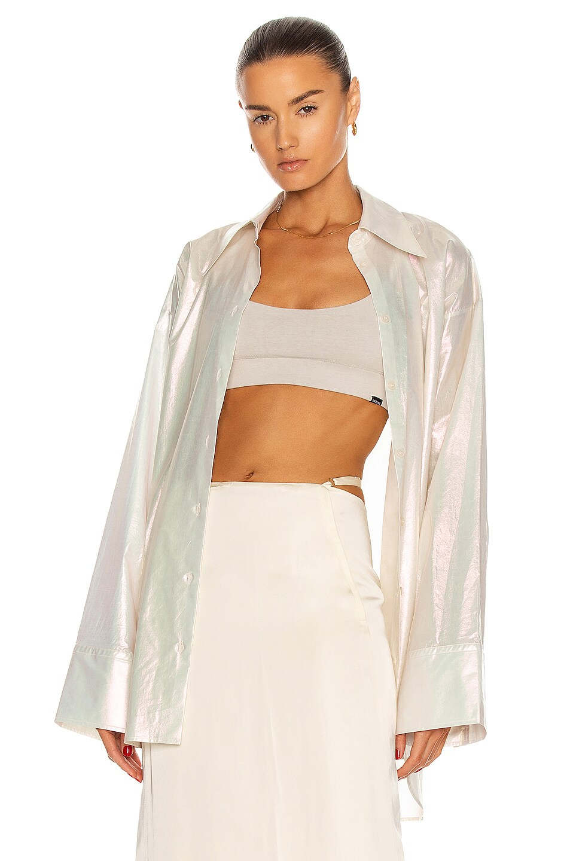 Image 1 of Acne Studios Iridescent Shirt in White
