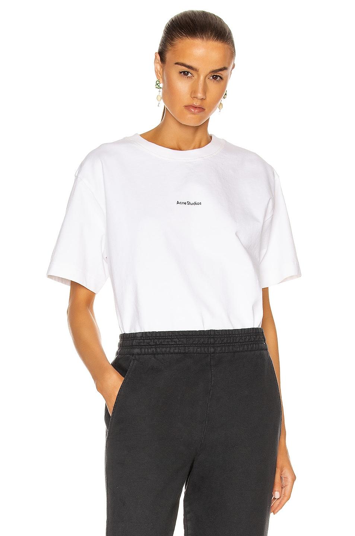 Image 1 of Acne Studios Logo T-Shirt in Optic White