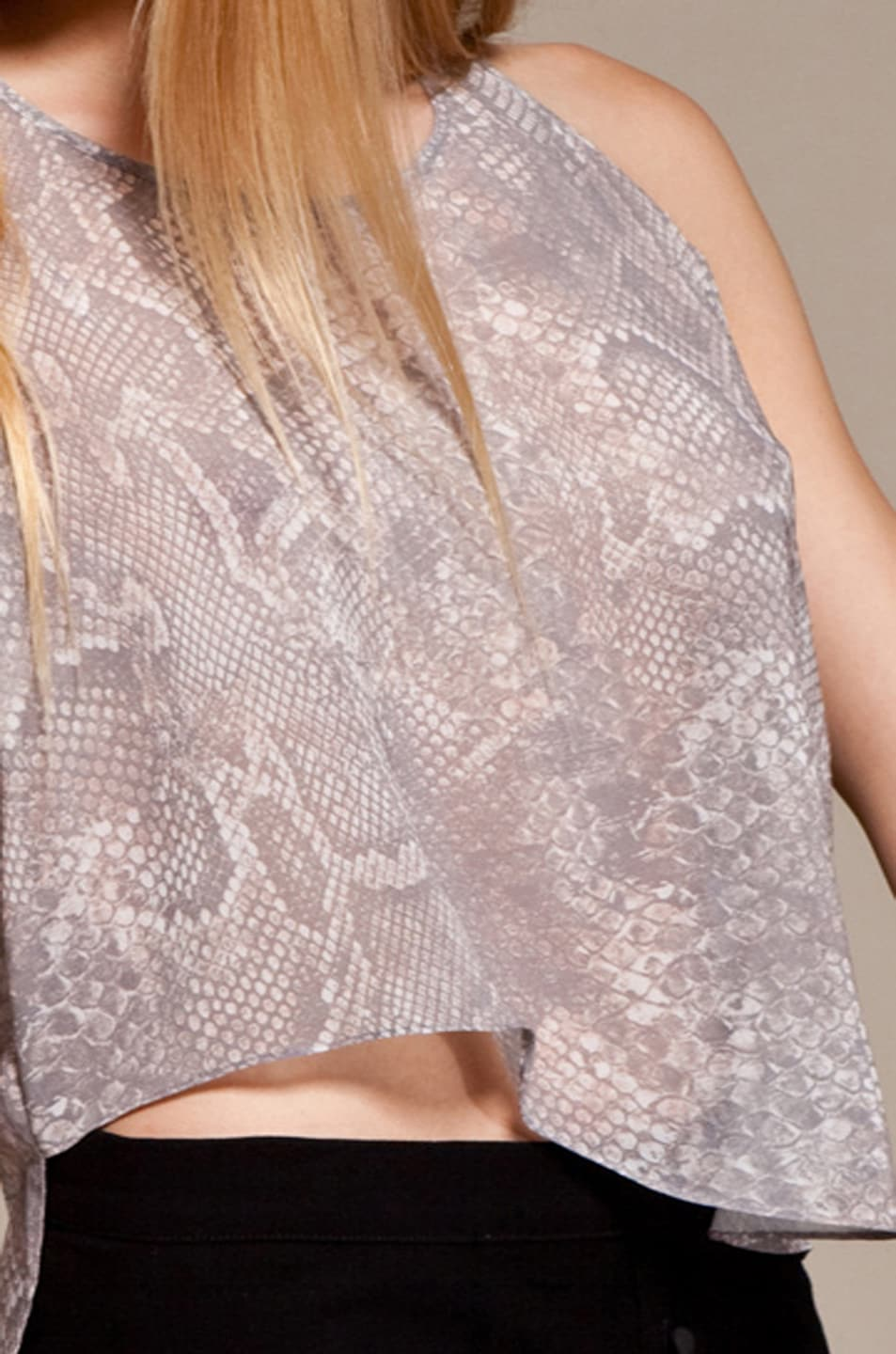 Image 7 of Acne Studios Naia Twisted Tank in Light Snake