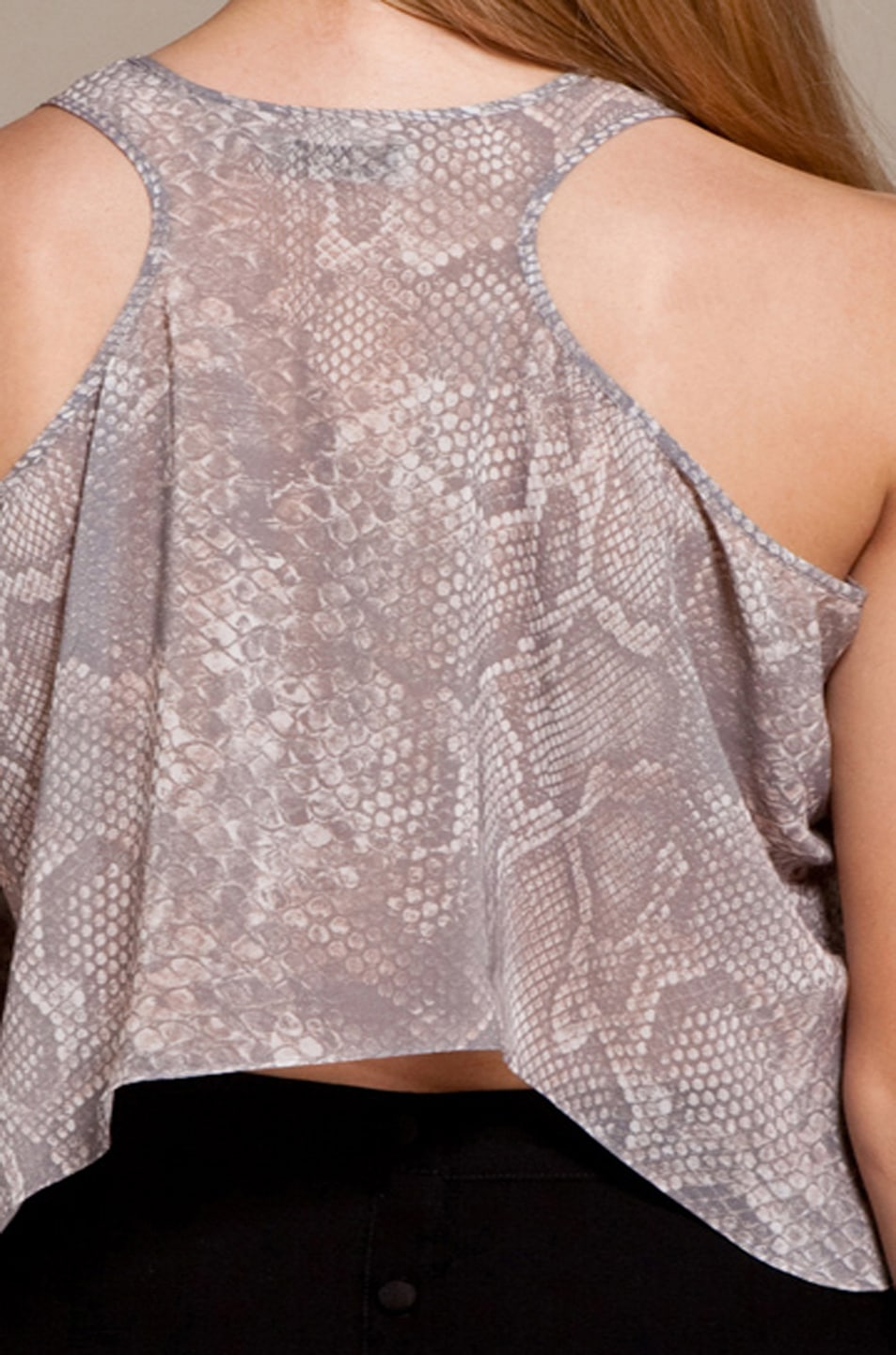 Image 8 of Acne Studios Naia Twisted Tank in Light Snake