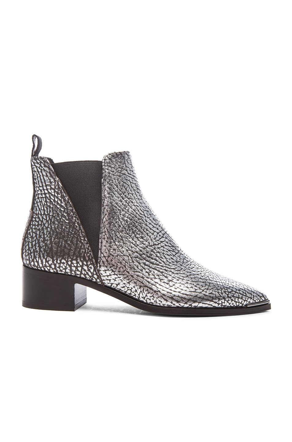 Image 1 of Acne Studios Metallic Leather Jensen Boots in Silver