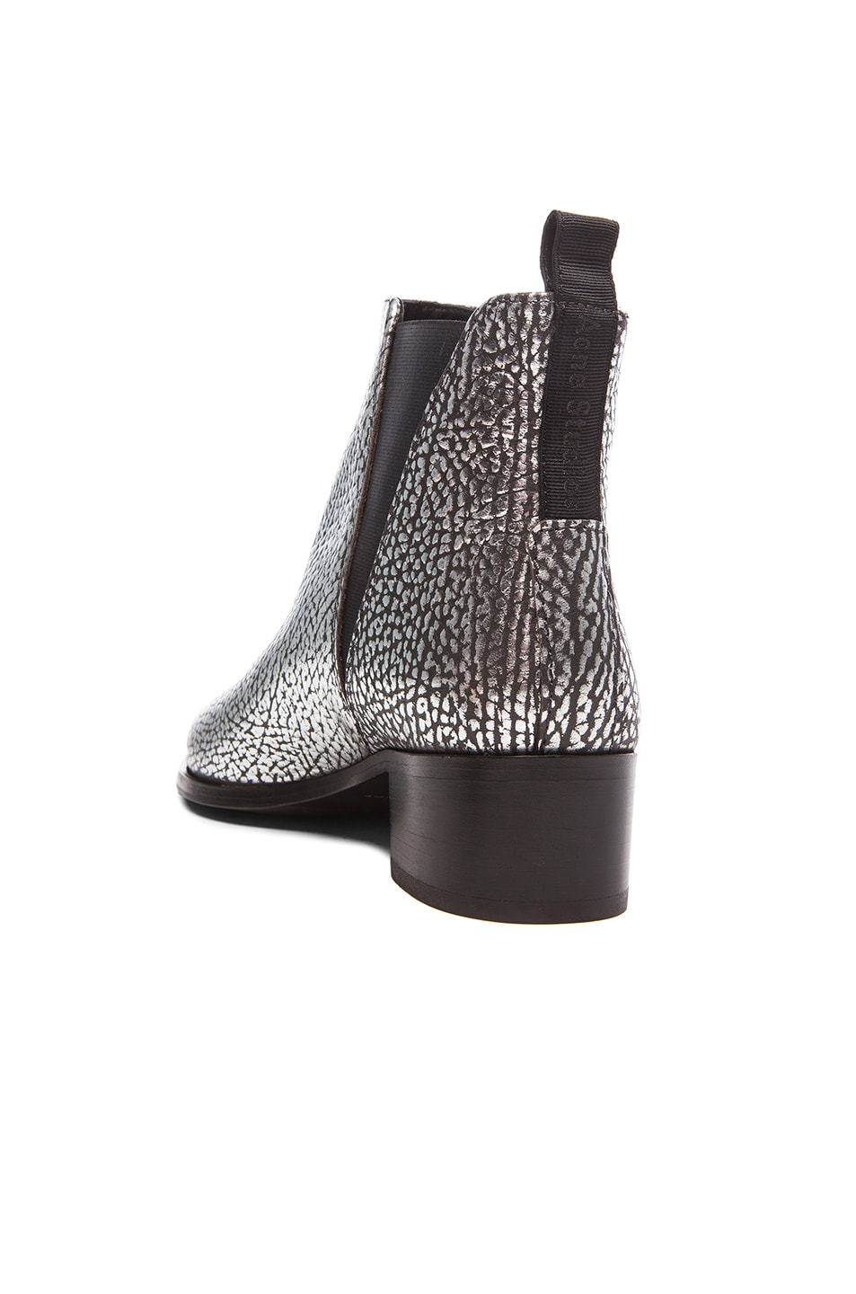 Image 3 of Acne Studios Metallic Leather Jensen Boots in Silver