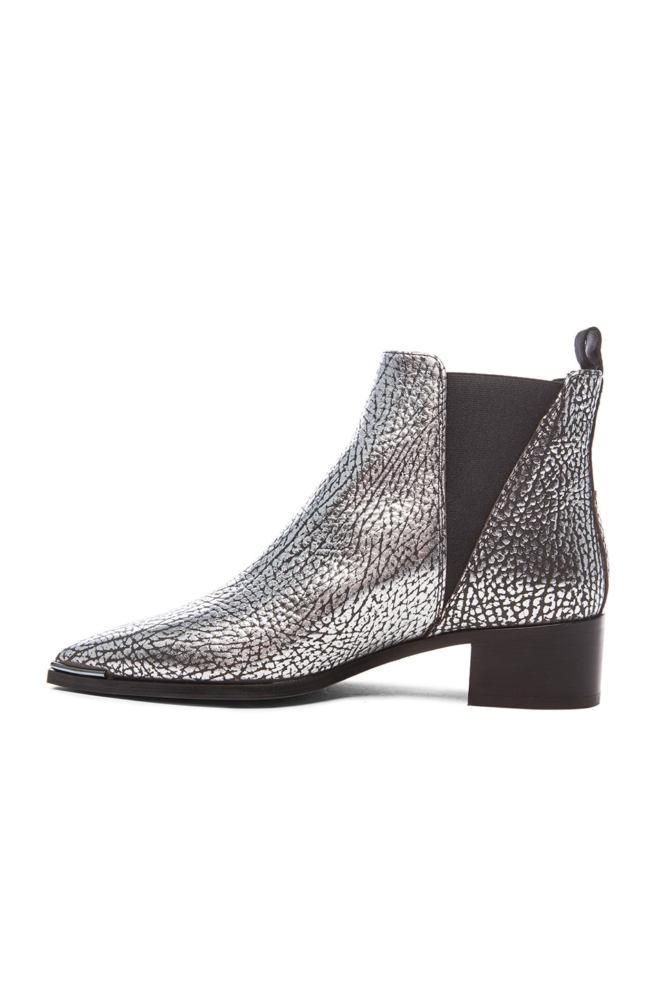 Image 5 of Acne Studios Metallic Leather Jensen Boots in Silver