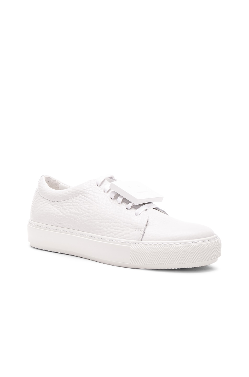 Image 2 of Acne Studios Leather Adriana Sneakers in White