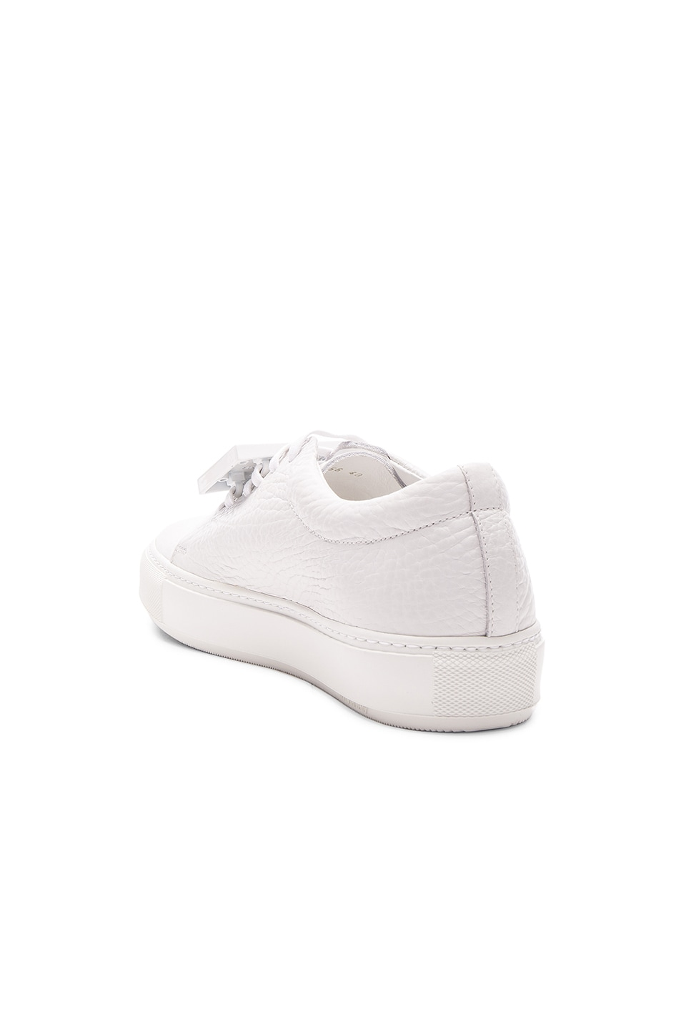 Image 3 of Acne Studios Leather Adriana Sneakers in White