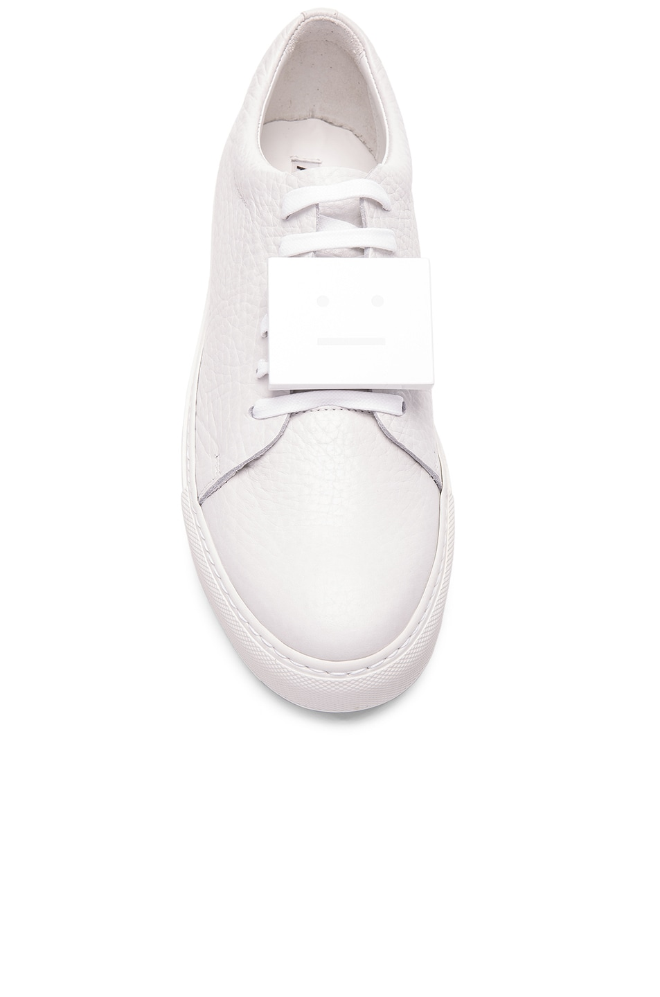 Image 4 of Acne Studios Leather Adriana Sneakers in White