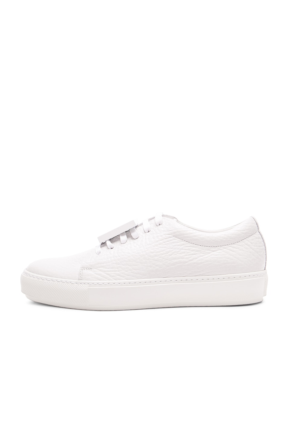 Image 5 of Acne Studios Leather Adriana Sneakers in White