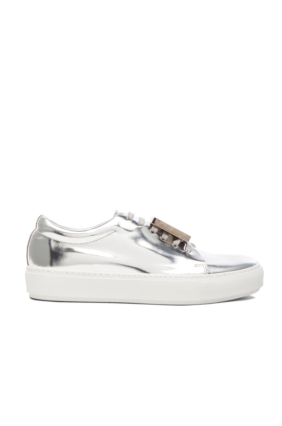 Image 1 of Acne Studios Adriana Metallic Sneakers in Silver