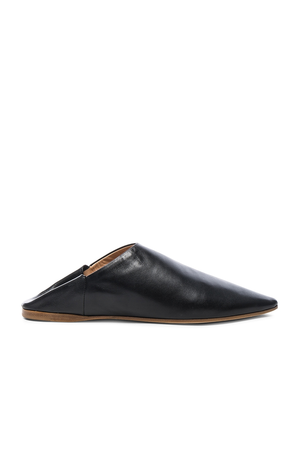 Image 1 of Acne Studios Leather Amina Babouche Slippers in Black
