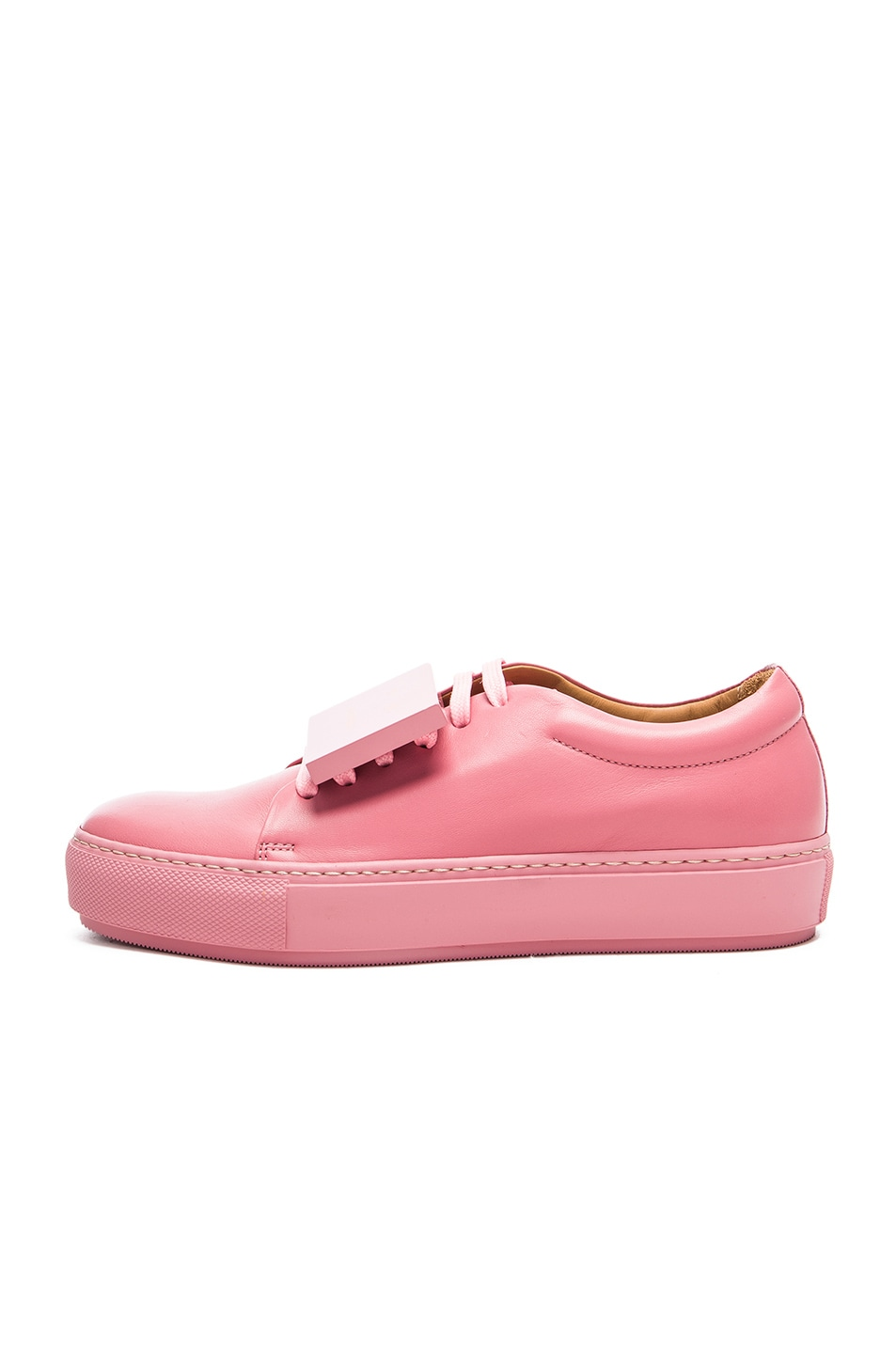 Adriana Acne Leather Sneakers Turnup PinkFwrd Bubble In Studios WCexrdBo