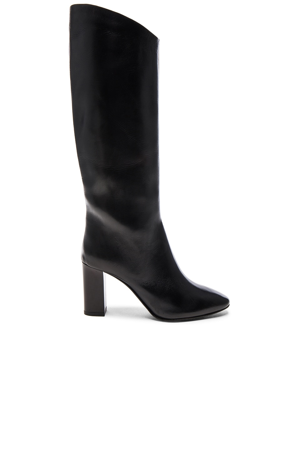 Image 1 of Acne Studios Leather Aly Boots in Black