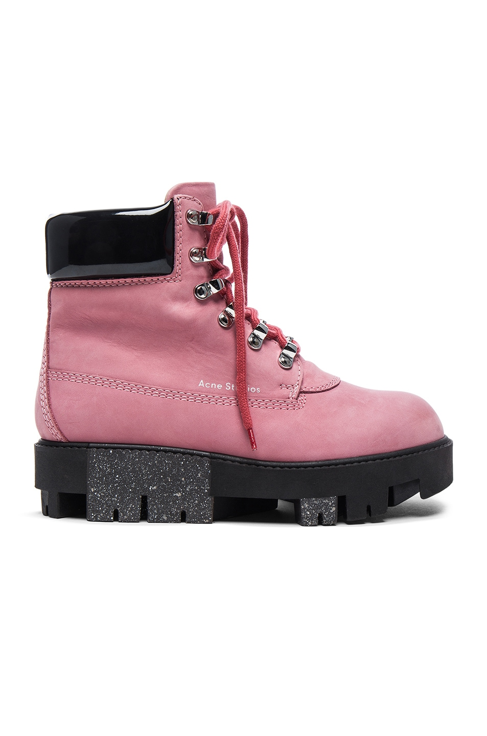Image 1 of Acne Studios Leather Telde Boots in Bubble Pink & Black
