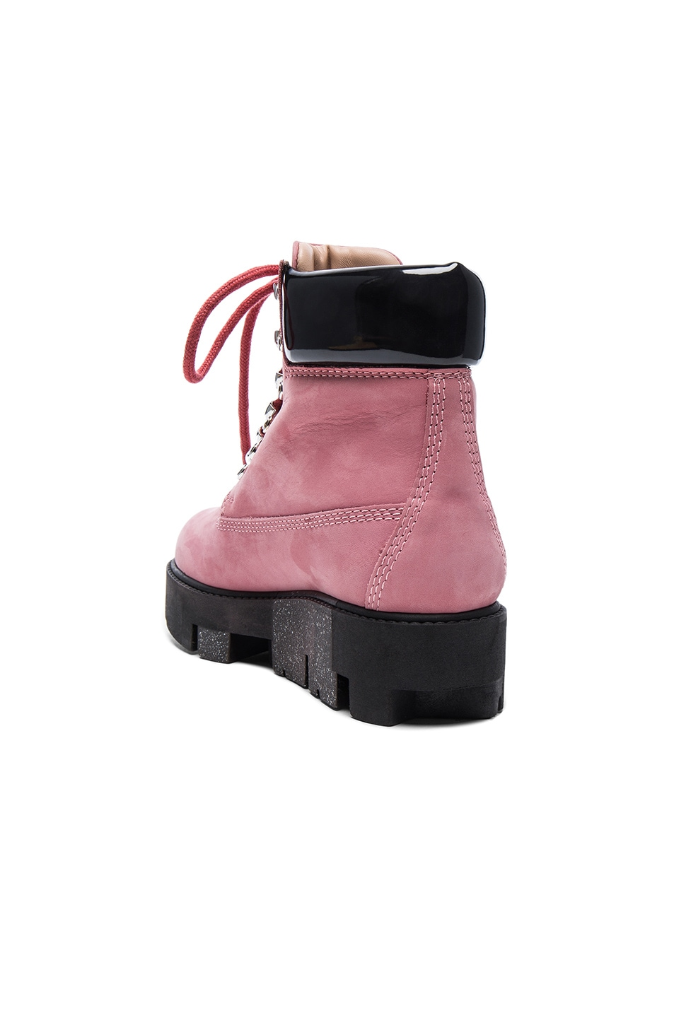 Image 3 of Acne Studios Leather Telde Boots in Bubble Pink & Black