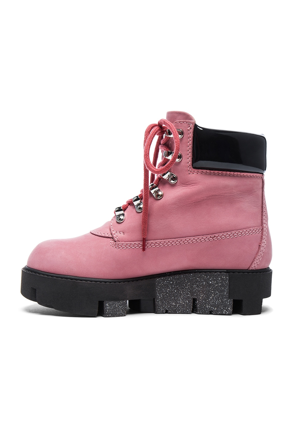 Image 5 of Acne Studios Leather Telde Boots in Bubble Pink & Black