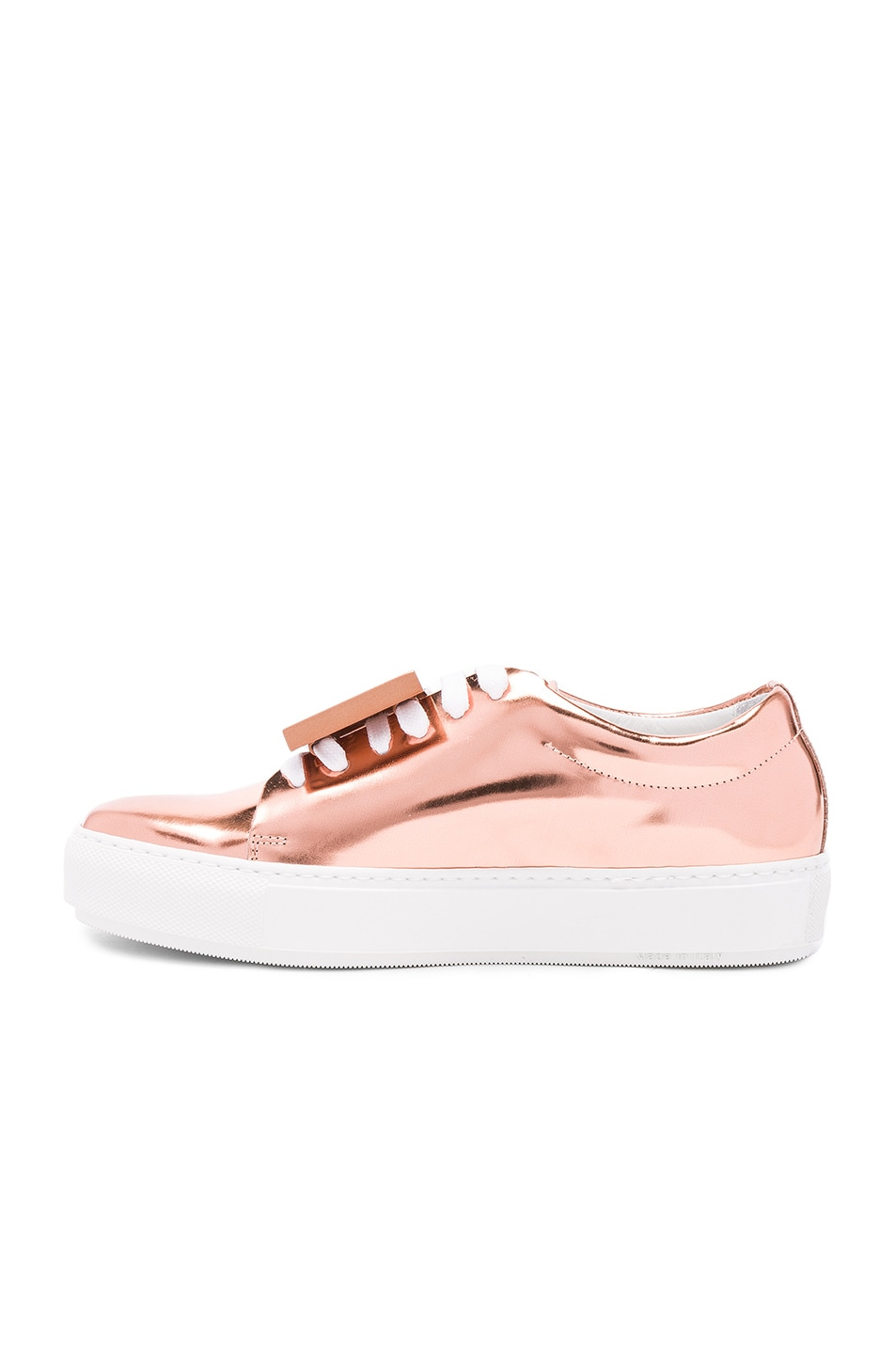 Image 5 of Acne Studios Adriana Metallic Leather Sneakers in Copper
