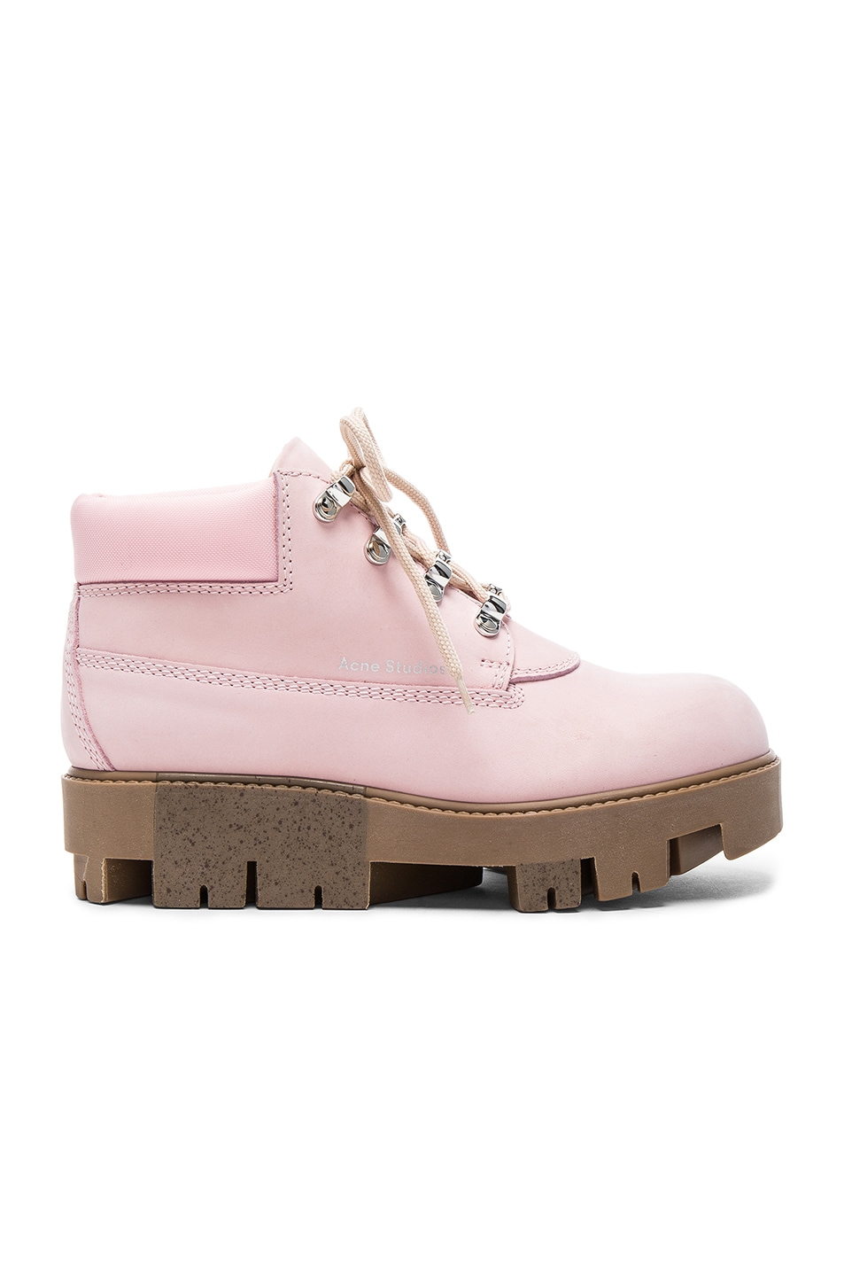 Image 1 of Acne Studios Leather Tinne Boots in Pink