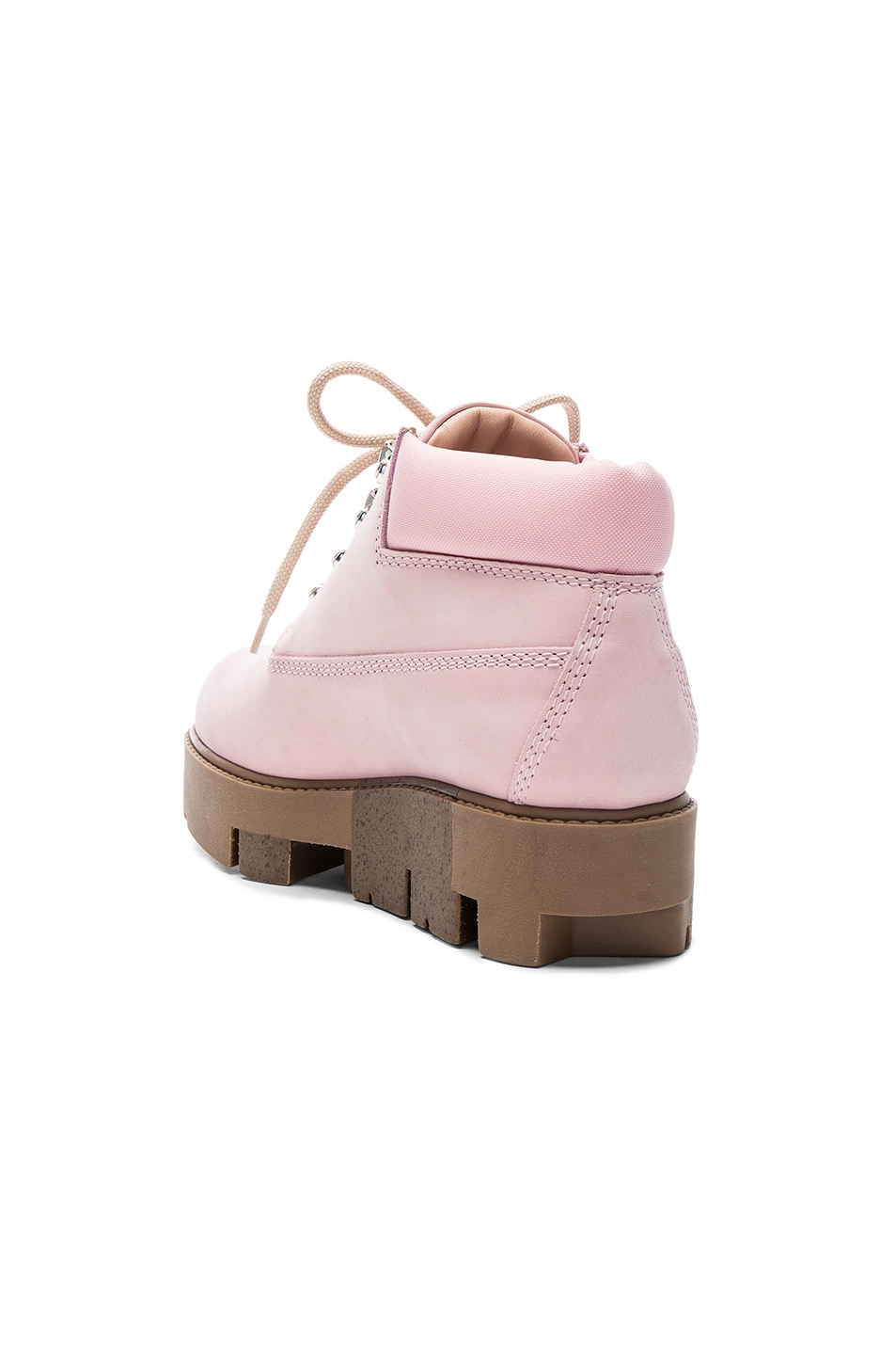 Image 3 of Acne Studios Leather Tinne Boots in Pink