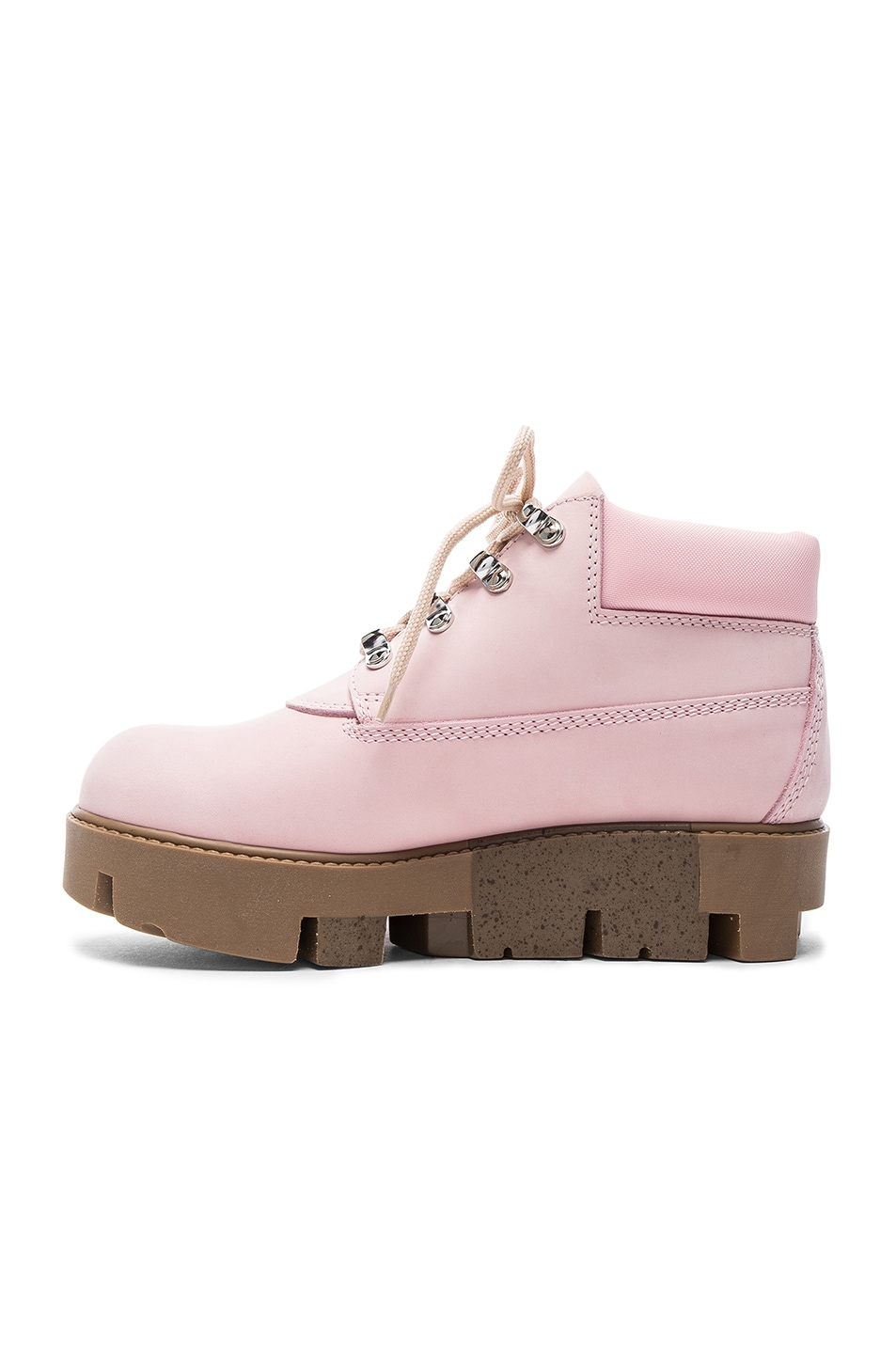 Image 5 of Acne Studios Leather Tinne Boots in Pink