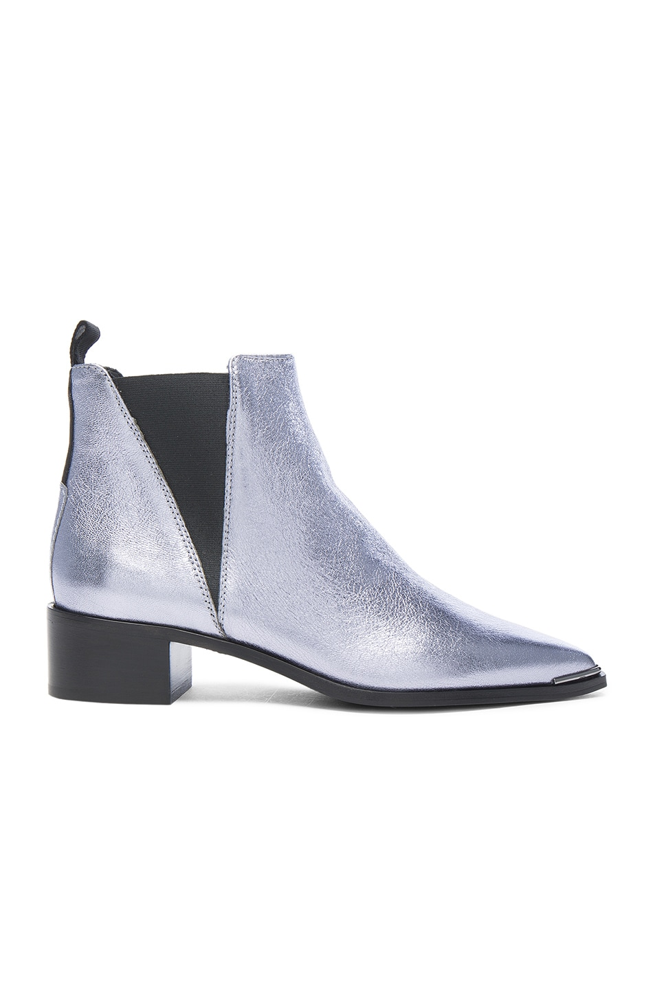 Image 1 of Acne Studios Leather Jensen Space Booties in Lavender Grey